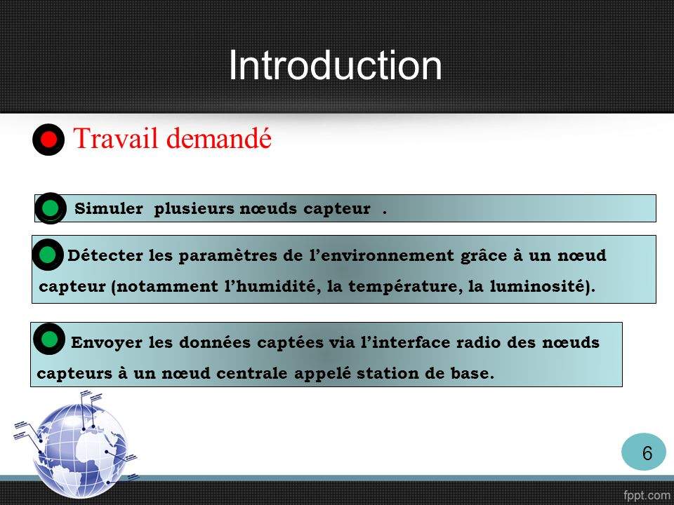 Introduction Travail demandé Simuler plusieurs nœuds capteur .