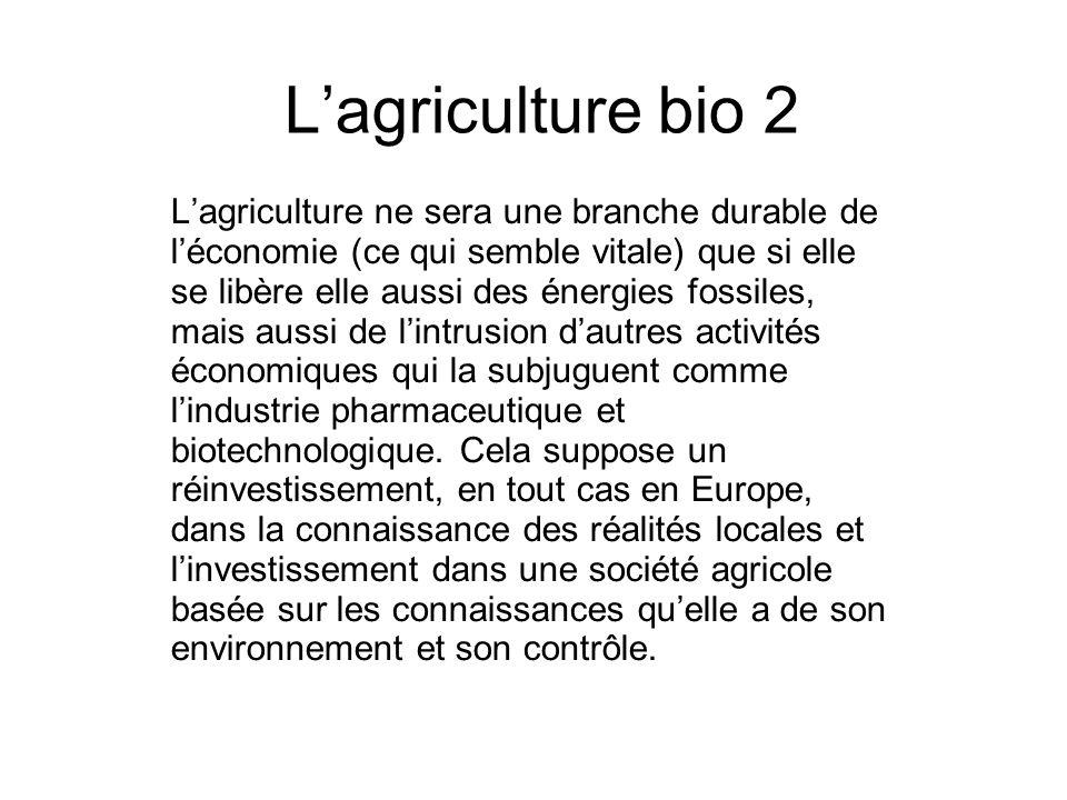 L'agriculture bio 2