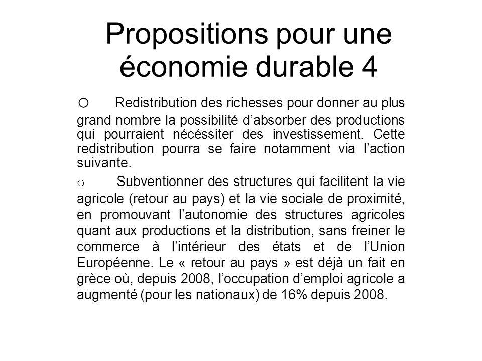 Propositions pour une économie durable 4