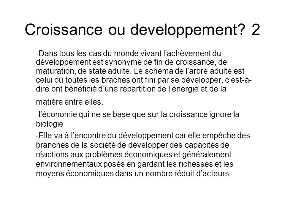 Croissance ou developpement 2