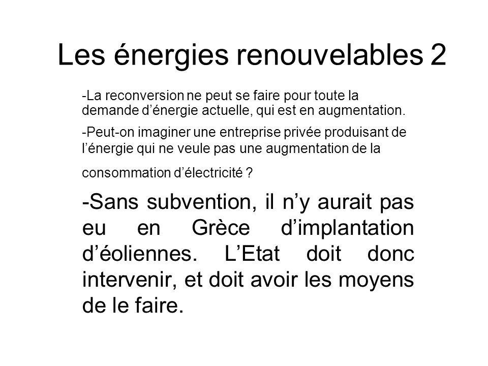 Les énergies renouvelables 2