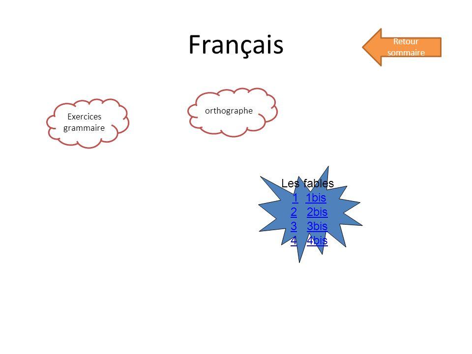Français Les fables 1 1bis 2 2bis 3 3bis 4 4bis Retour sommaire