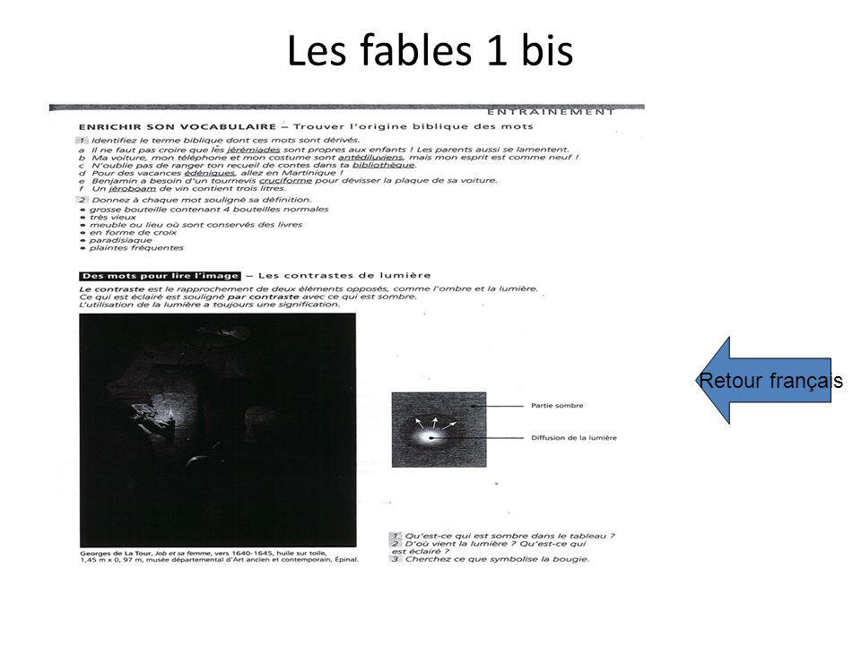 Les fables 1 bis Retour français