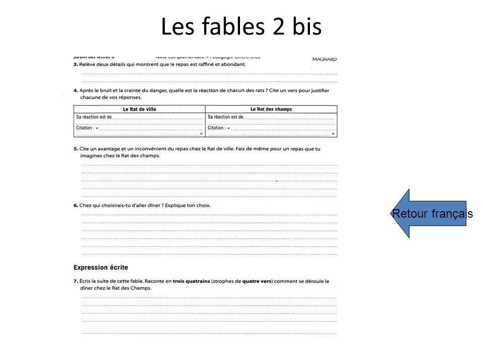 Les fables 2 bis Retour français