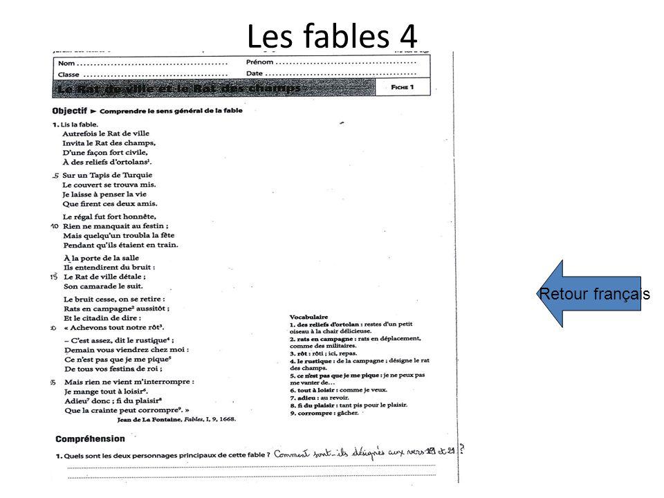 Les fables 4 Retour français