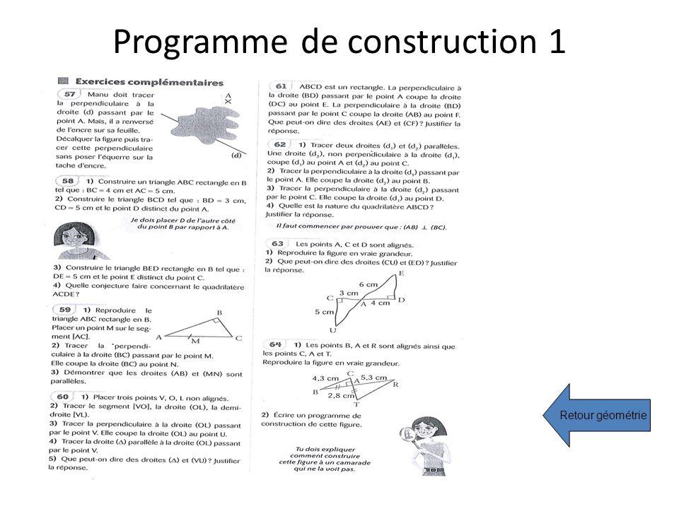 Programme de construction 1