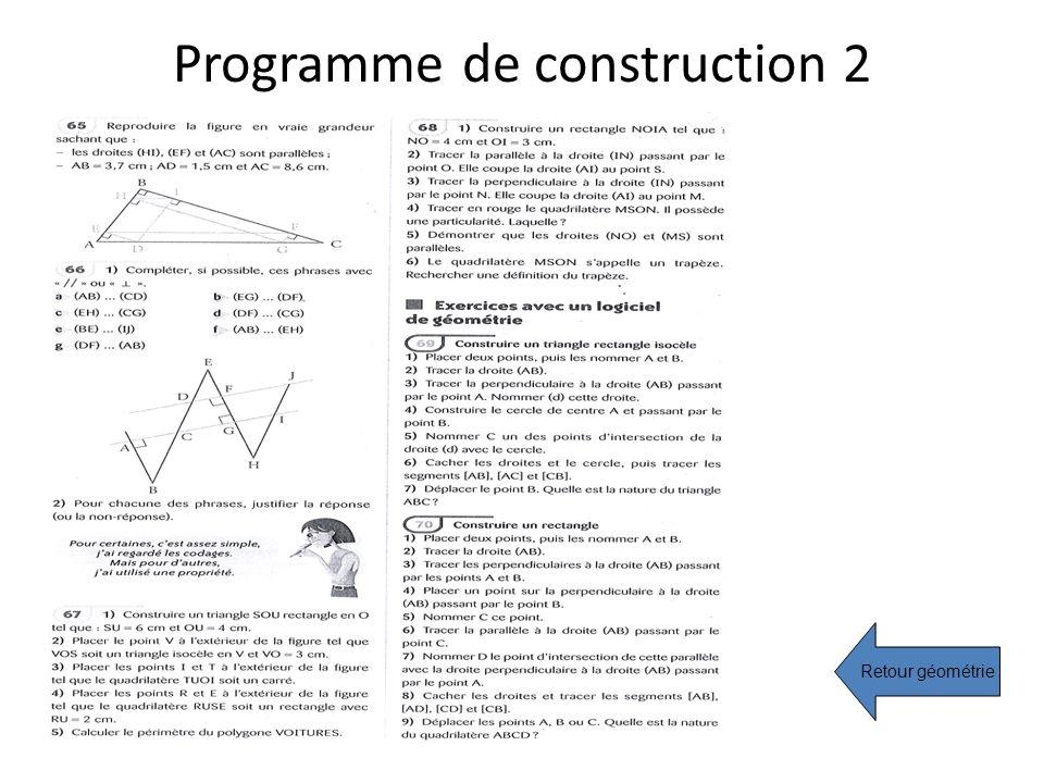 Programme de construction 2