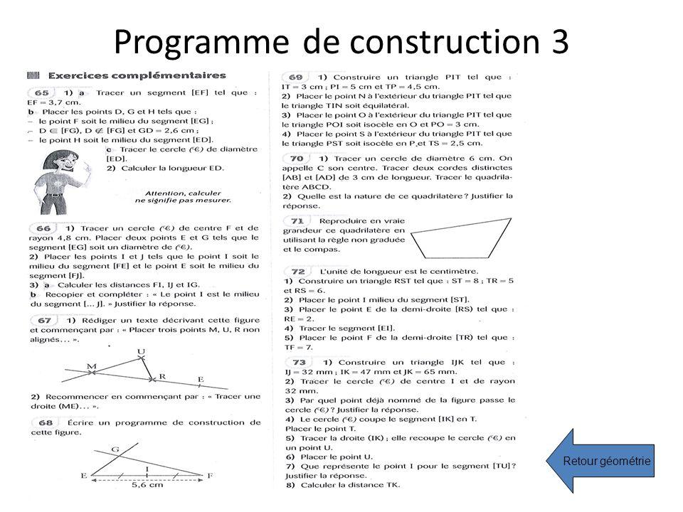 Programme de construction 3