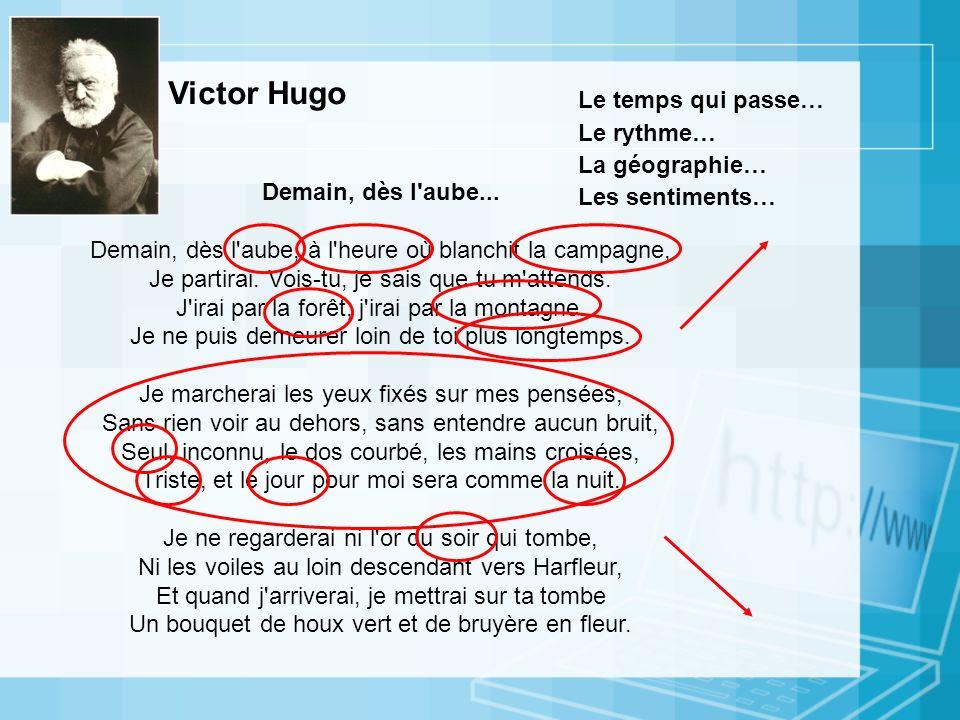 Victor Hugo Le temps qui passe… Le rythme… La géographie…