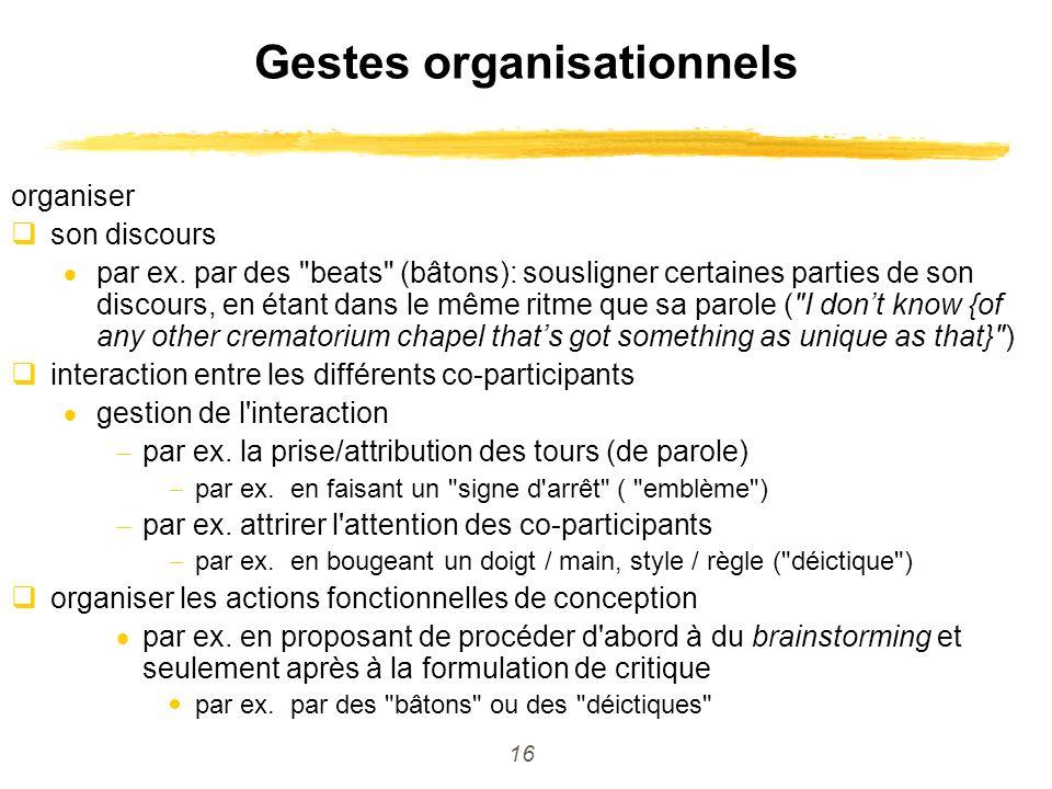 Gestes organisationnels