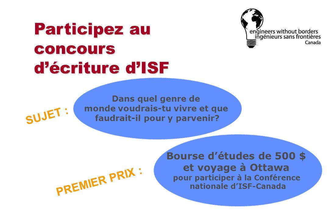 Participez au concours d'écriture d'ISF