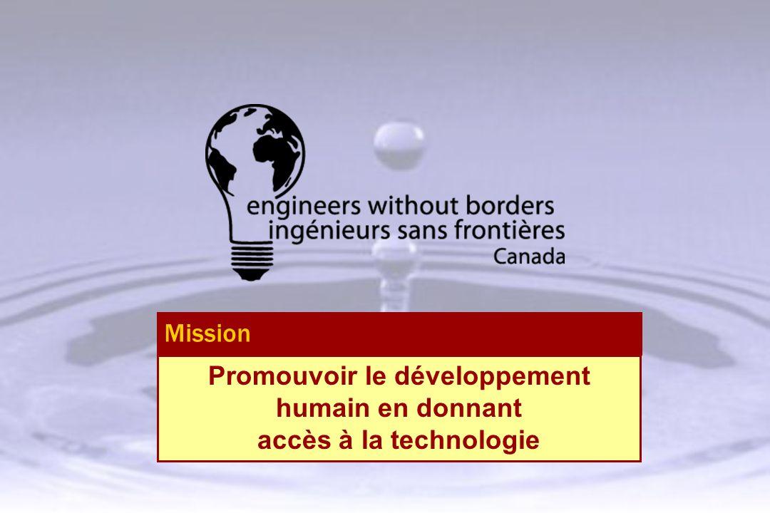 Promouvoir le développement humain en donnant accès à la technologie