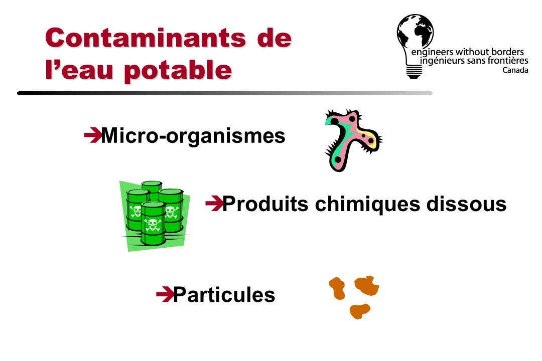 Contaminants de l'eau potable