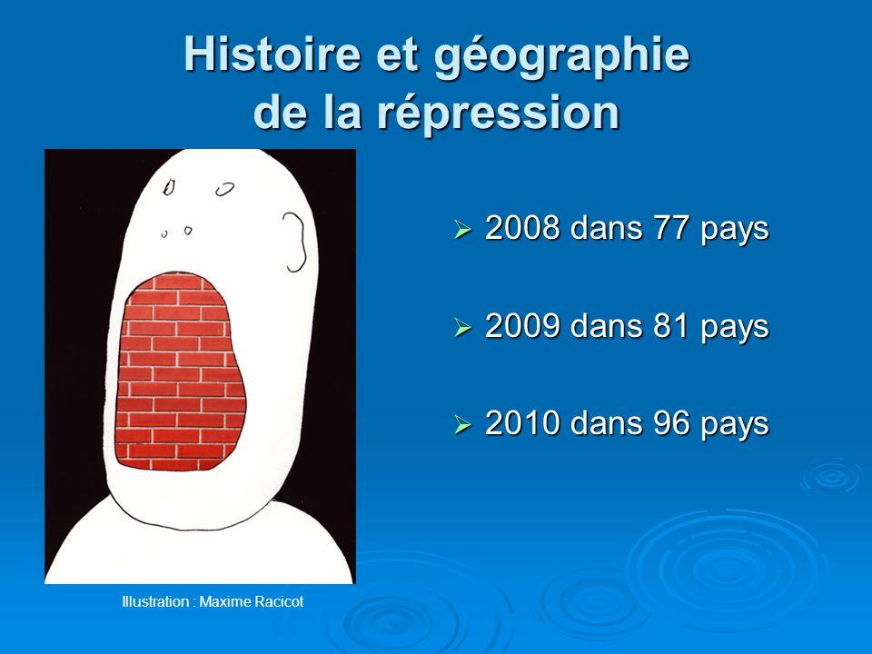 Histoire et géographie de la répression