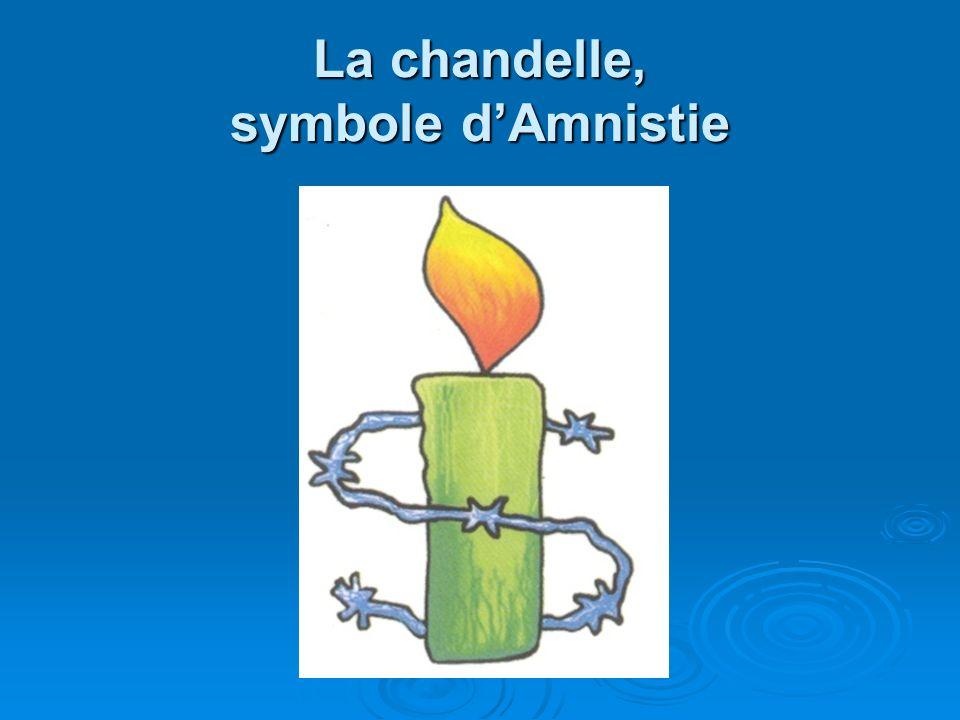 La chandelle, symbole d'Amnistie