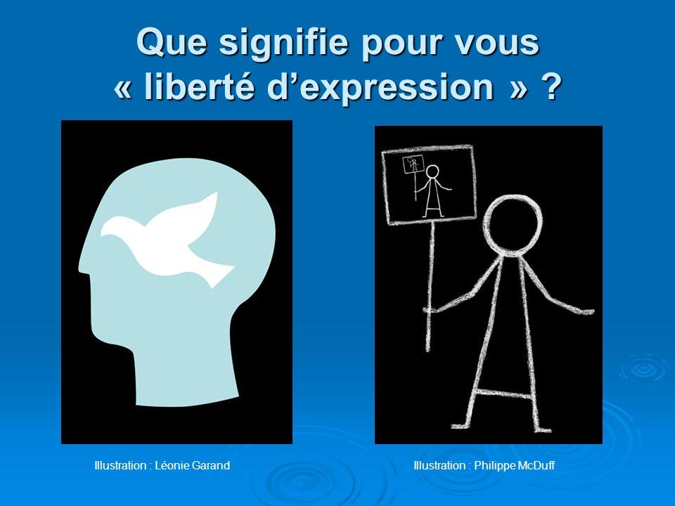 Que signifie pour vous « liberté d'expression »