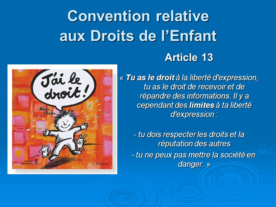 Convention relative aux Droits de l'Enfant