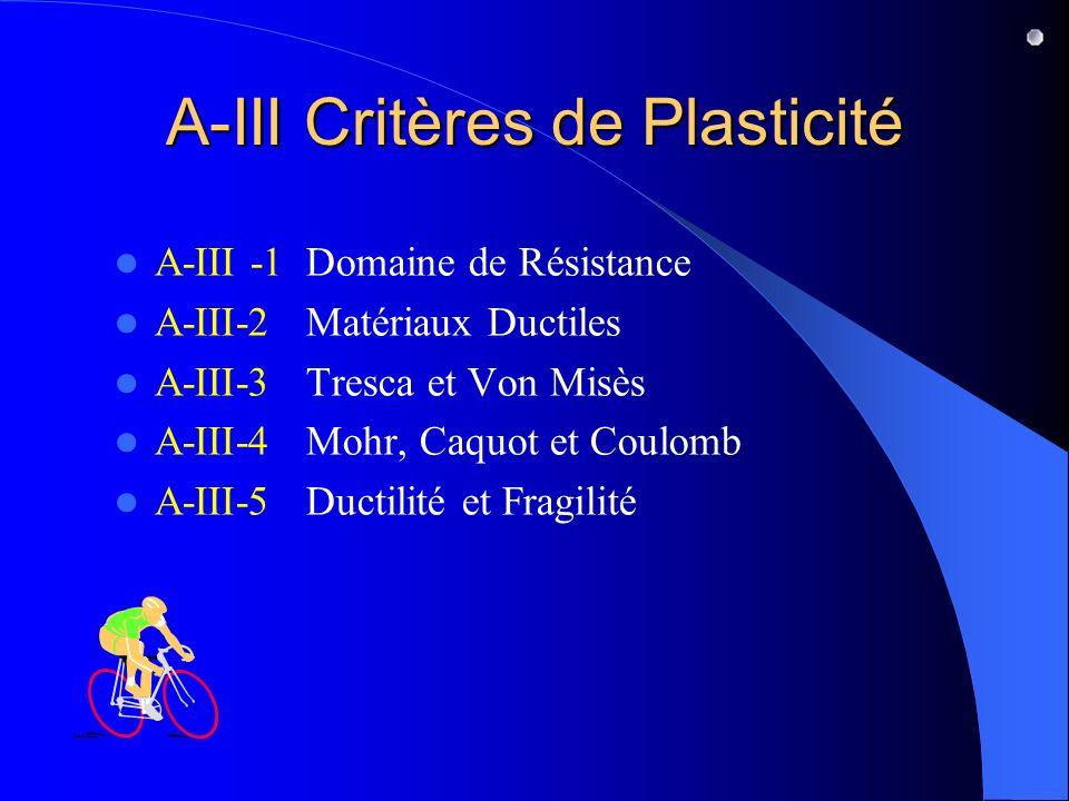 A-III Critères de Plasticité