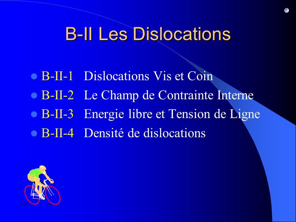 B-II Les Dislocations B-II-1 Dislocations Vis et Coin