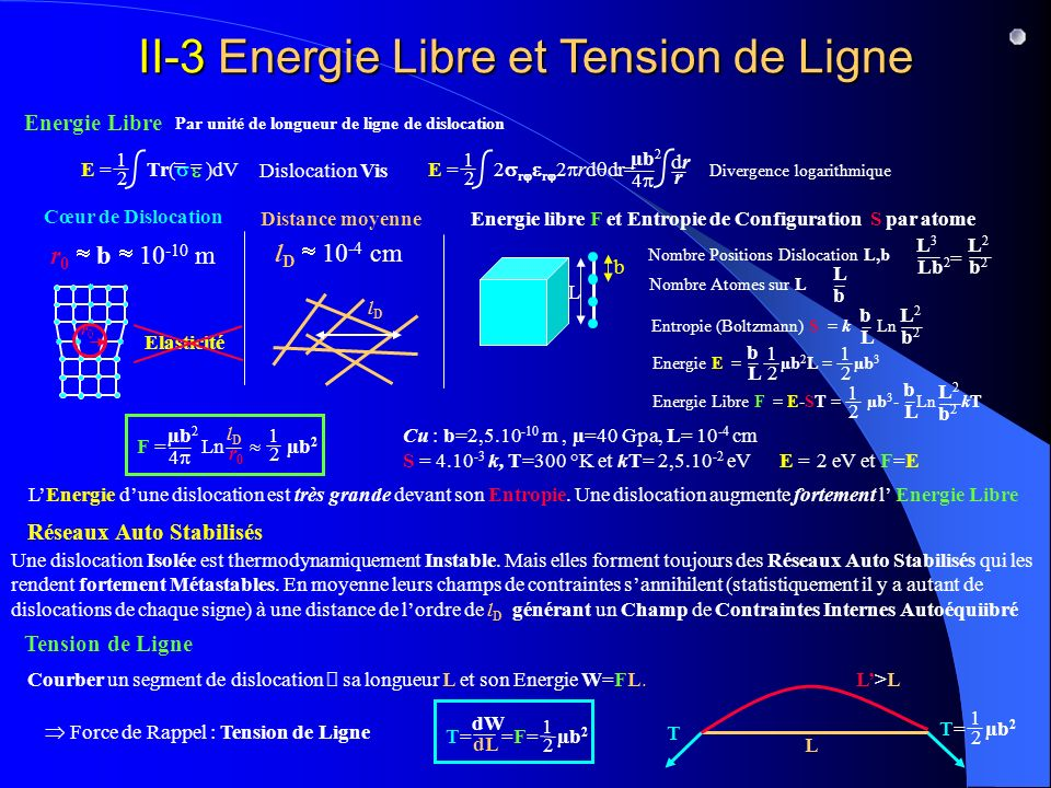 II-3 Energie Libre et Tension de Ligne