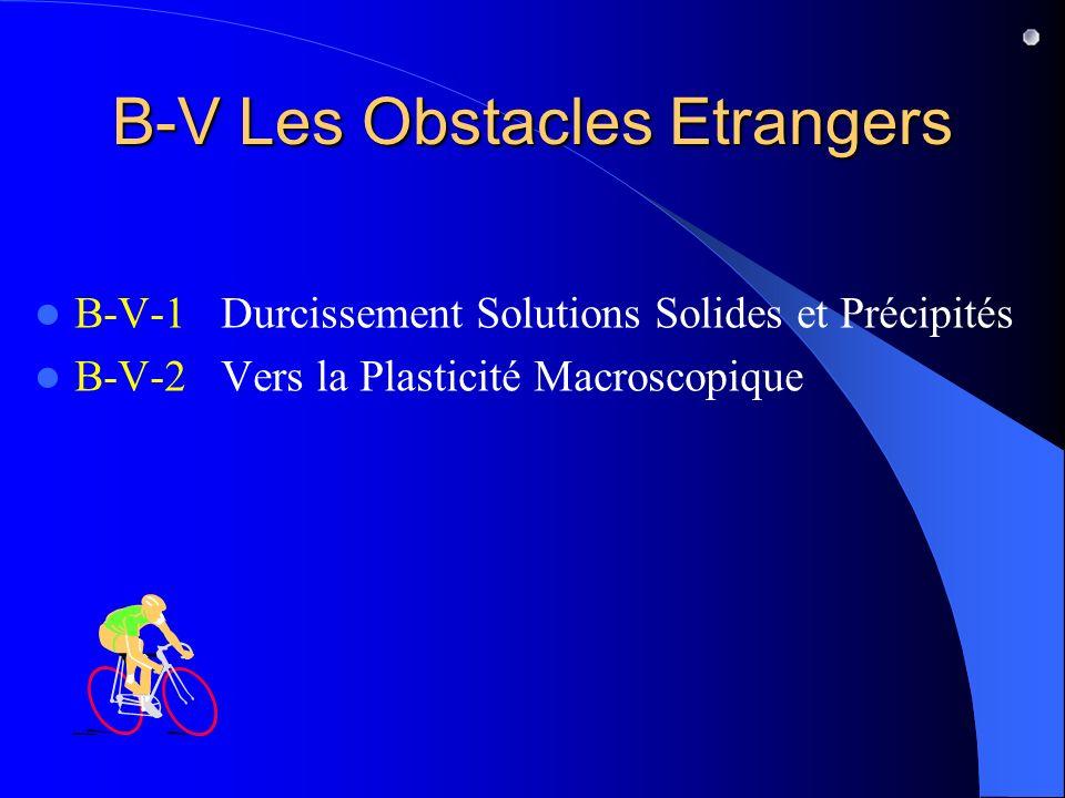 B-V Les Obstacles Etrangers