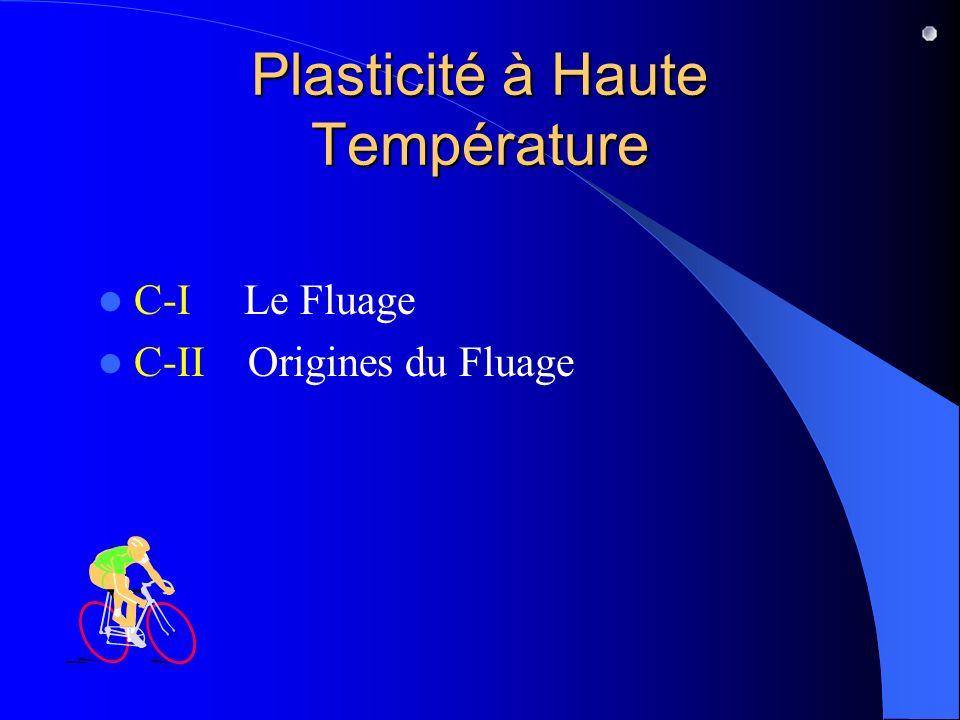 Plasticité à Haute Température