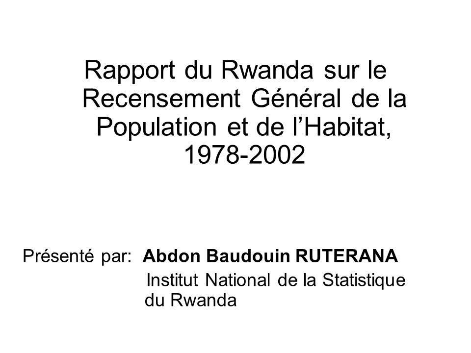 Rapport du Rwanda sur le Recensement Général de la Population et de l'Habitat, 1978-2002