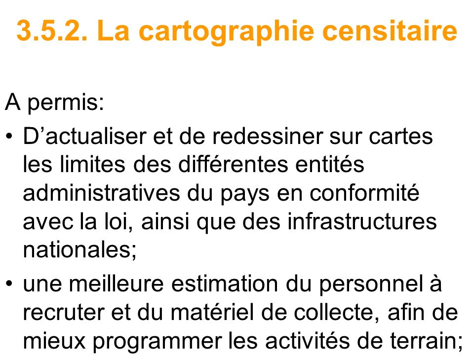 3.5.2. La cartographie censitaire