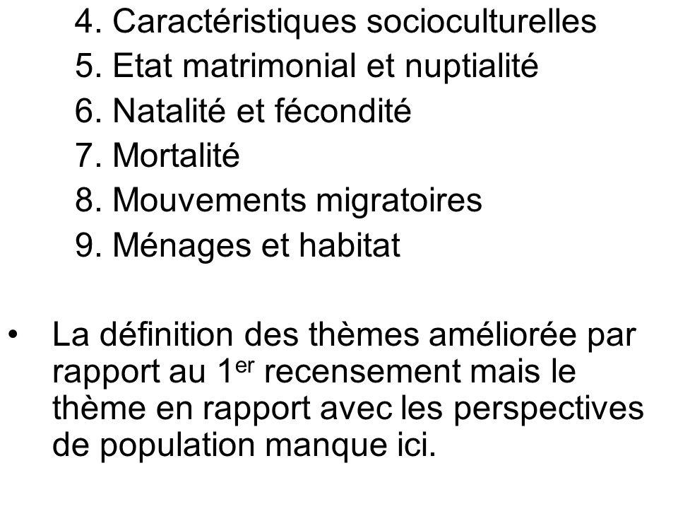 4. Caractéristiques socioculturelles