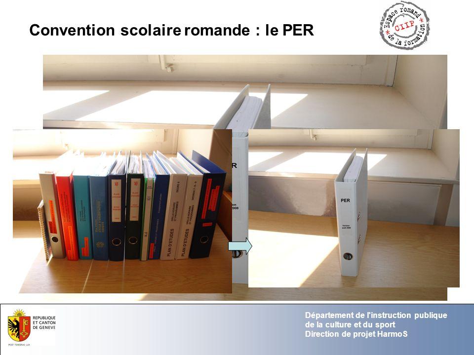 Convention scolaire romande : le PER