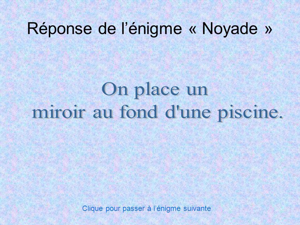 Réponse de l'énigme « Noyade »