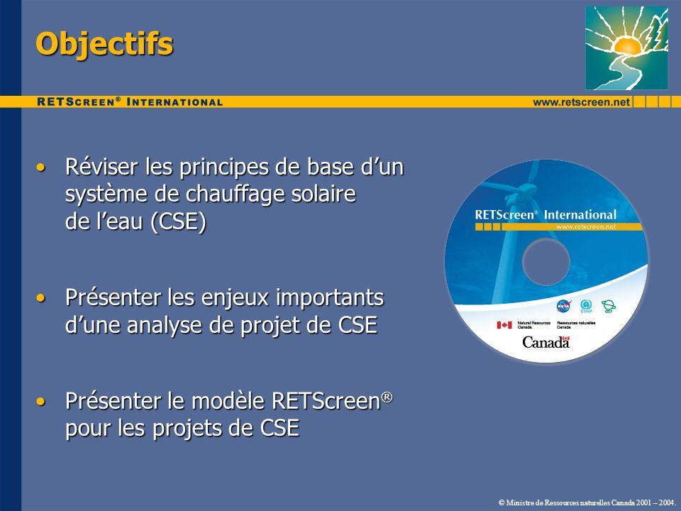 Objectifs Réviser les principes de base d'un système de chauffage solaire de l'eau (CSE)