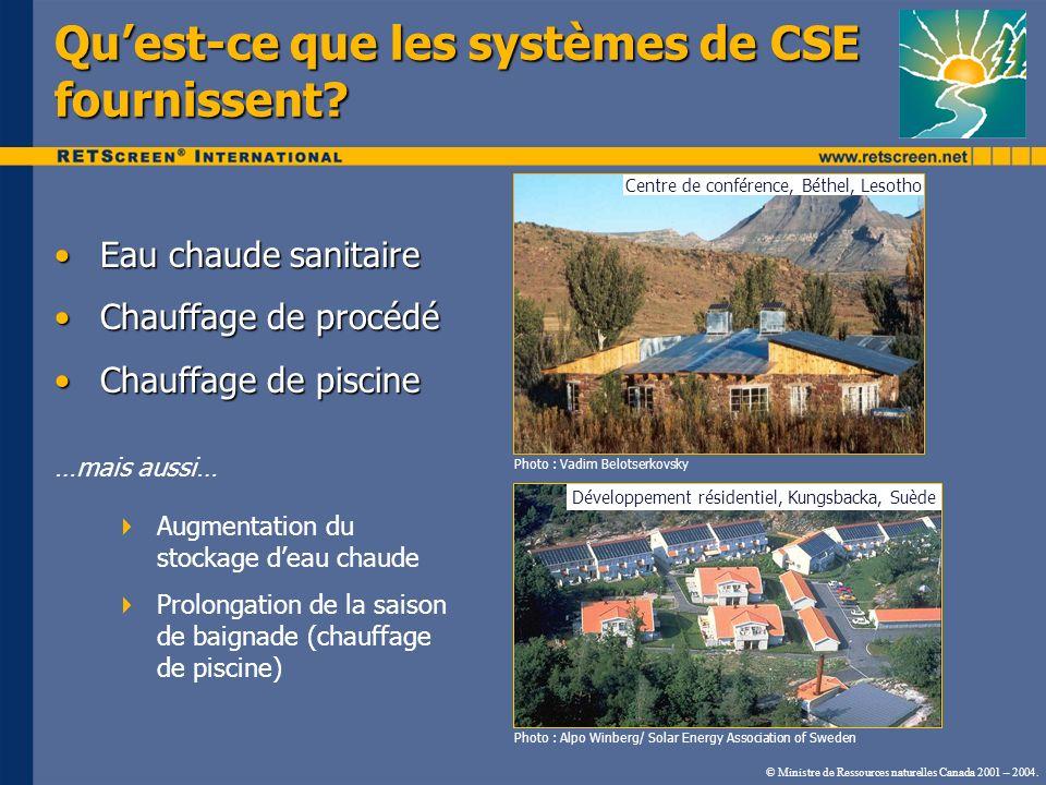 Qu'est-ce que les systèmes de CSE fournissent