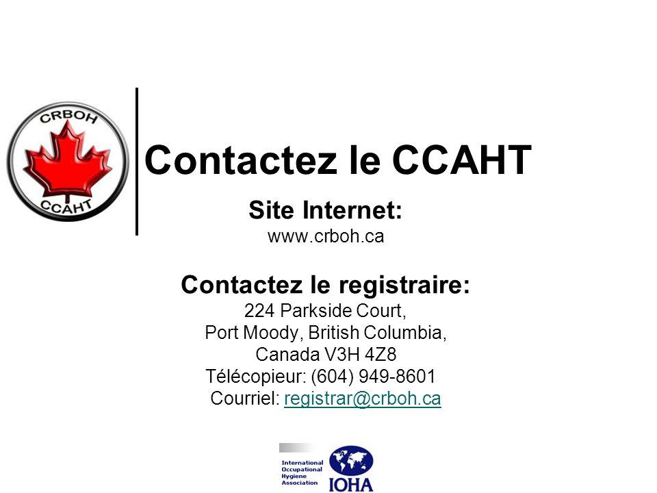 Contactez le CCAHT