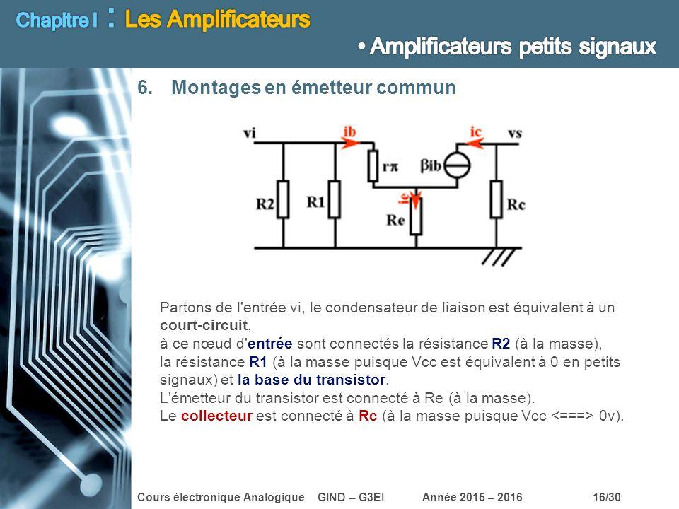 Chapitre I : Les Amplificateurs