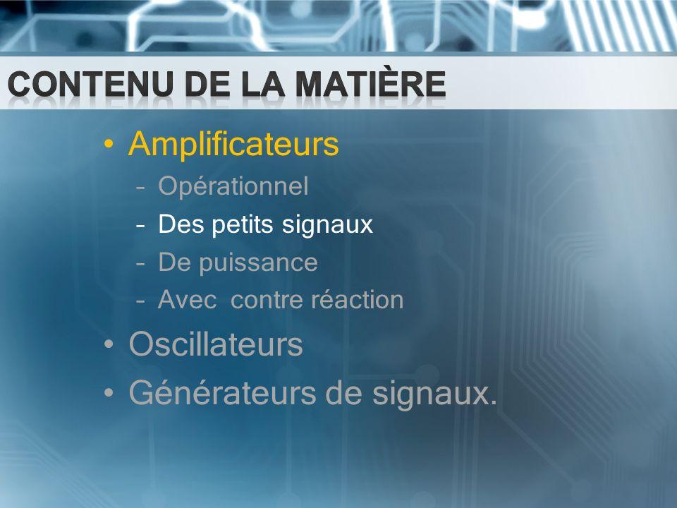 Générateurs de signaux.