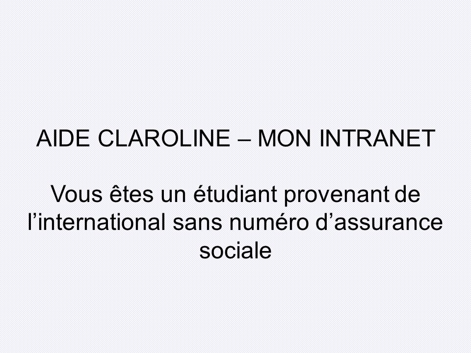 AIDE CLAROLINE – MON INTRANET