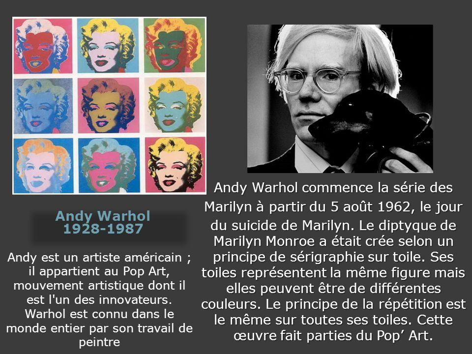 Andy Warhol commence la série des