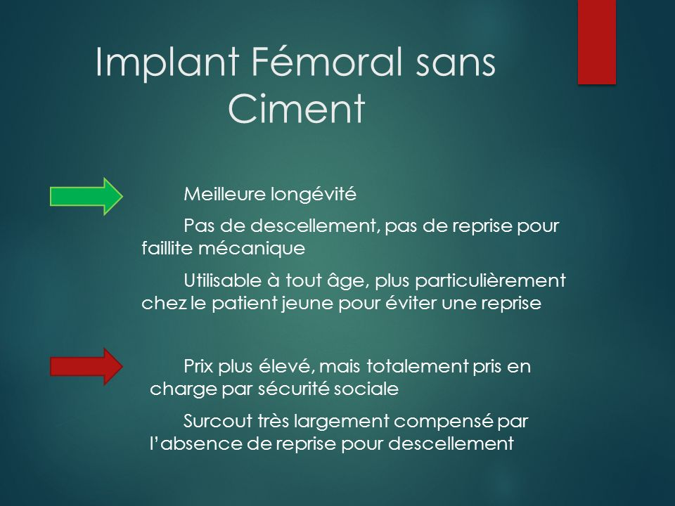 Implant Fémoral sans Ciment