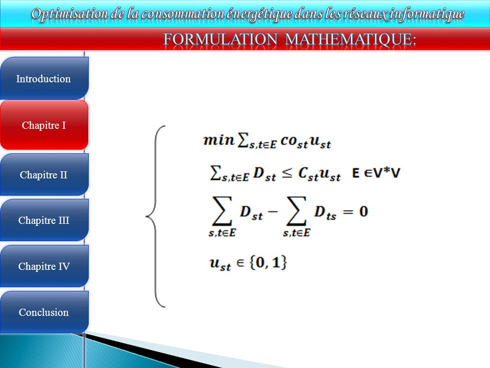 FORMULATION MATHEMATIQUE: