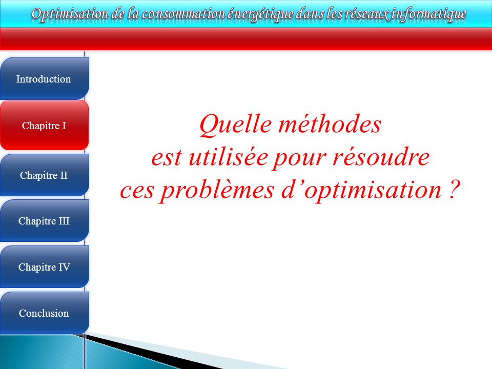 est utilisée pour résoudre ces problèmes d'optimisation