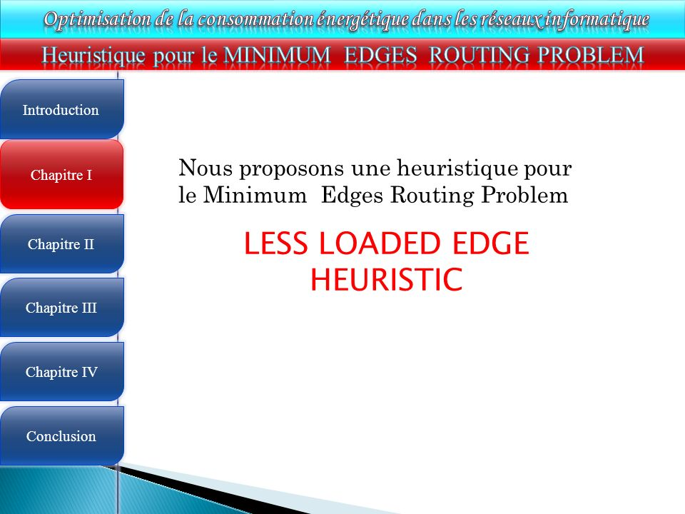 LESS LOADED EDGE HEURISTIC