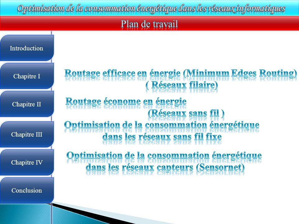 Routage efficace en énergie (Minimum Edges Routing) ( Réseaux filaire)