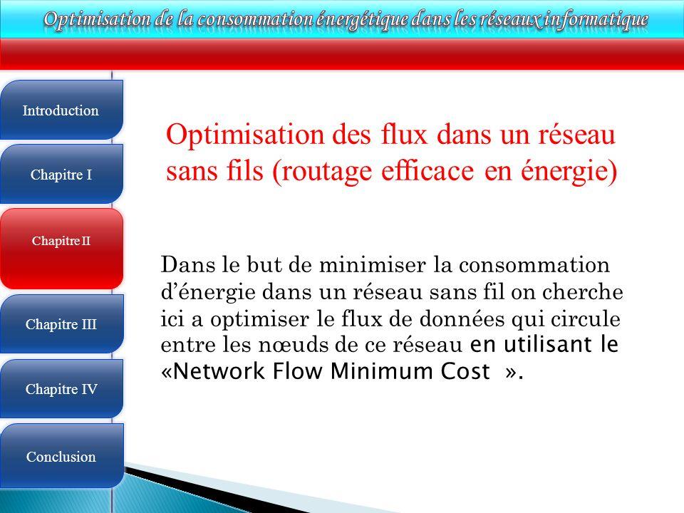 Optimisation de la consommation énergétique dans les réseaux informatique
