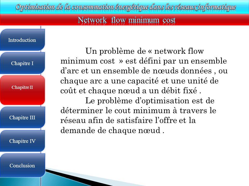 Network flow minimum cost