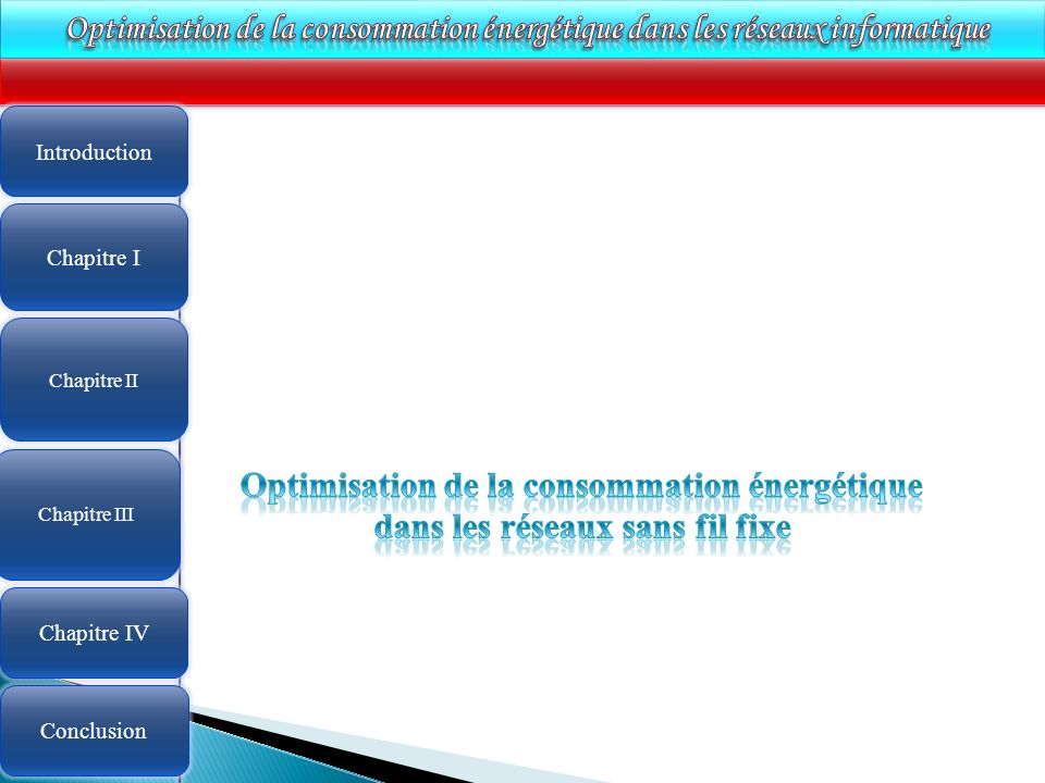 Optimisation de la consommation énergétique