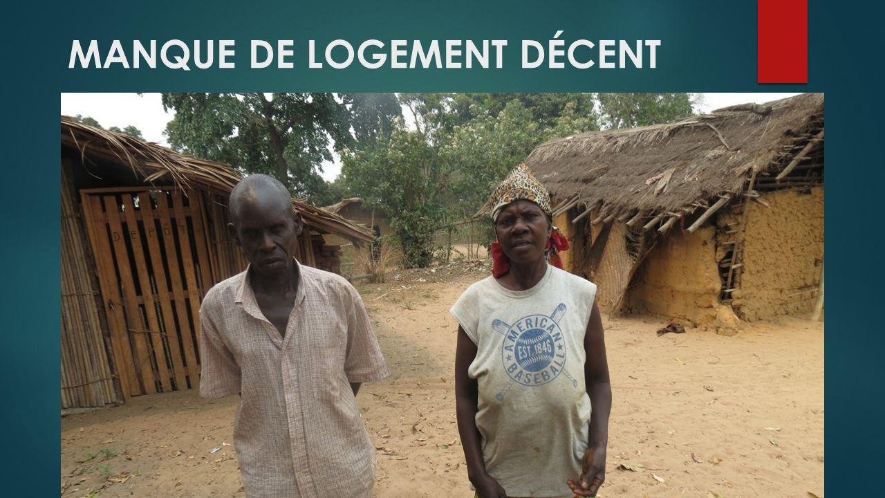 MANQUE DE LOGEMENT DÉCENT