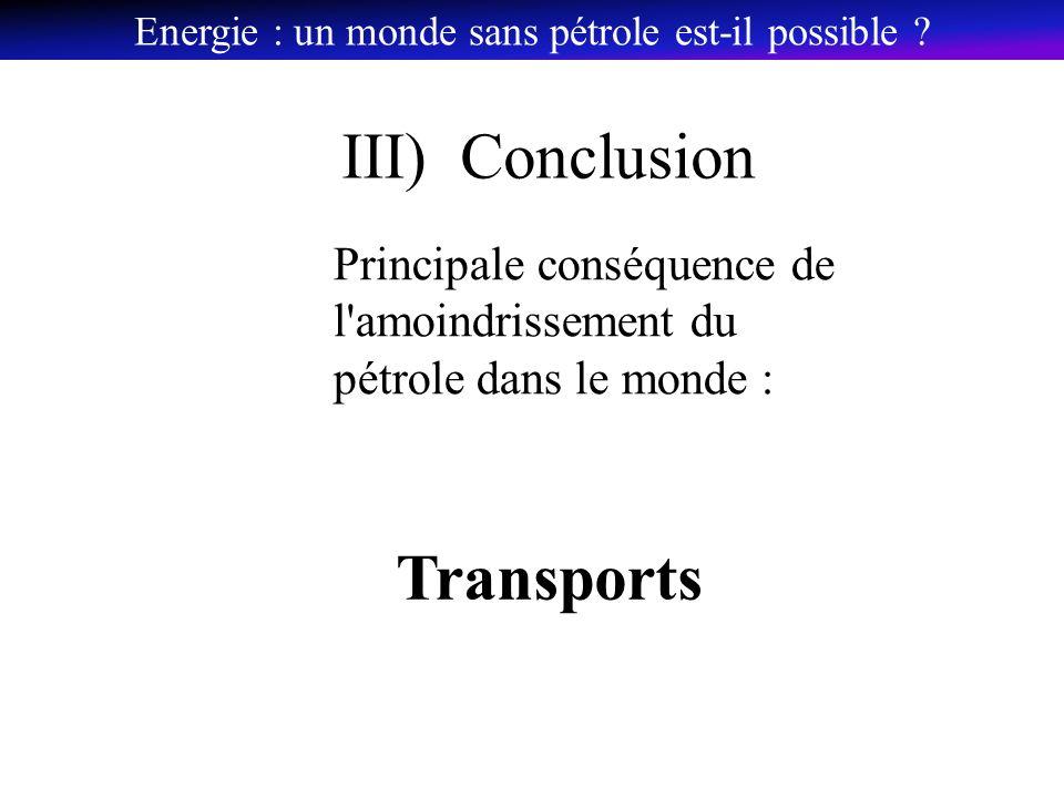 Energie : un monde sans pétrole est-il possible