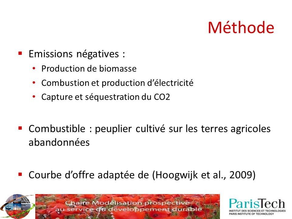 Méthode Emissions négatives :