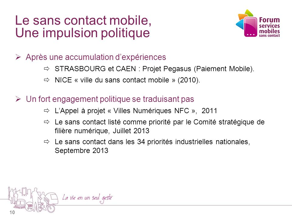Le sans contact mobile, Une impulsion politique